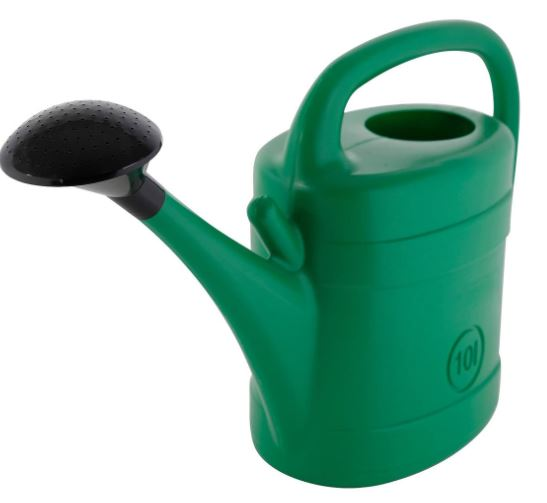 Plastic Green Watering Can 10 Ltr